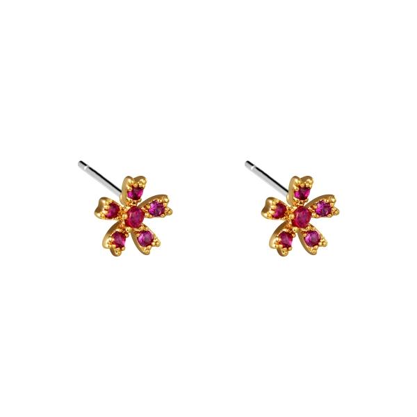 Earrings ruby rose