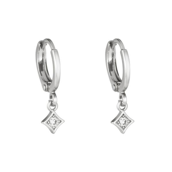 Earrings gleam