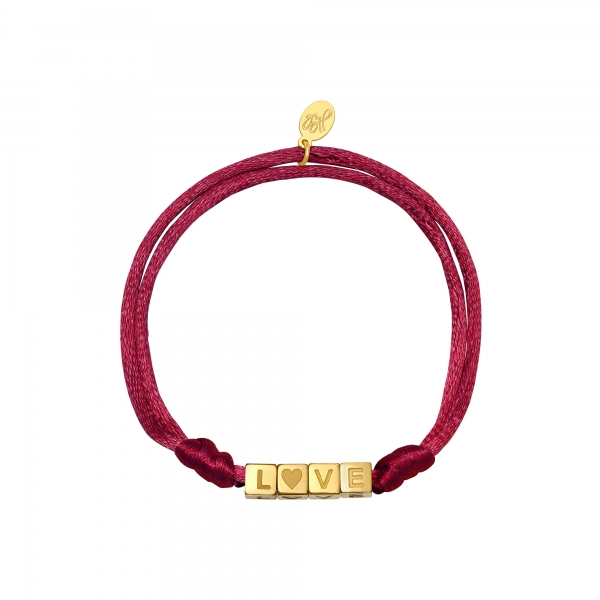 Armband satin love