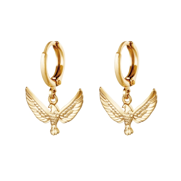 Earrings bird of freedom
