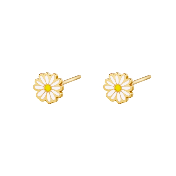 Earrings Golden Daisy