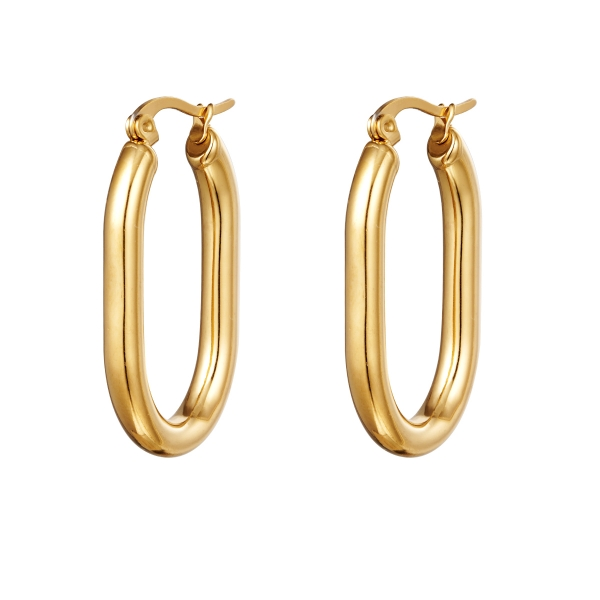 Earrings smooth oval