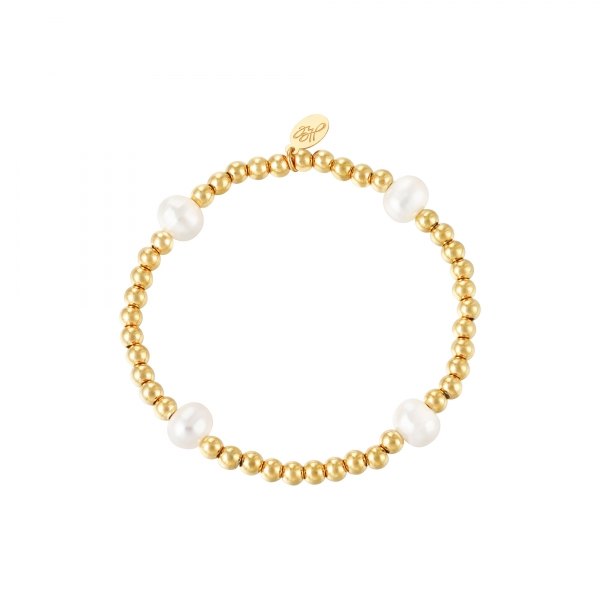 Bracelet big pearl mix