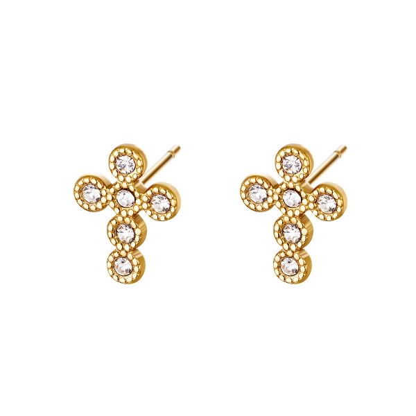 Boucles d'oreilles shiny cross