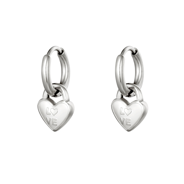 Earrings locked in love