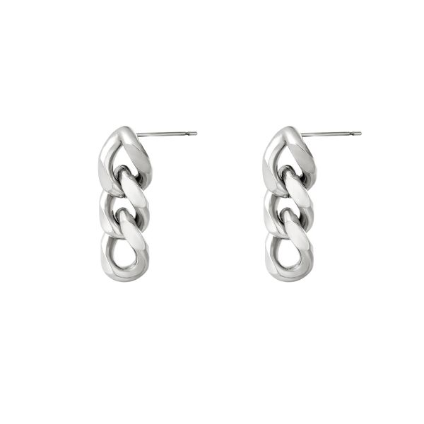 Earrings triple chain