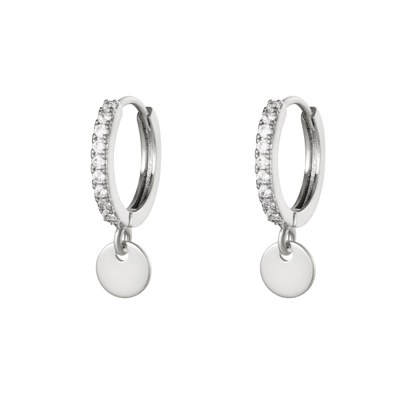 Earrings diamond coin