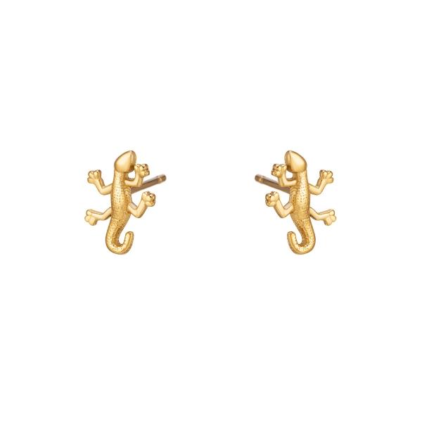 Stainless steel salamander earrings