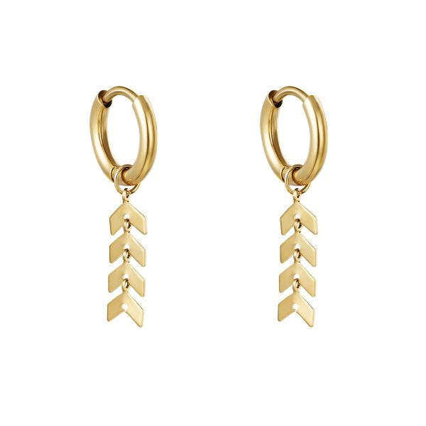 Earrings fishbone