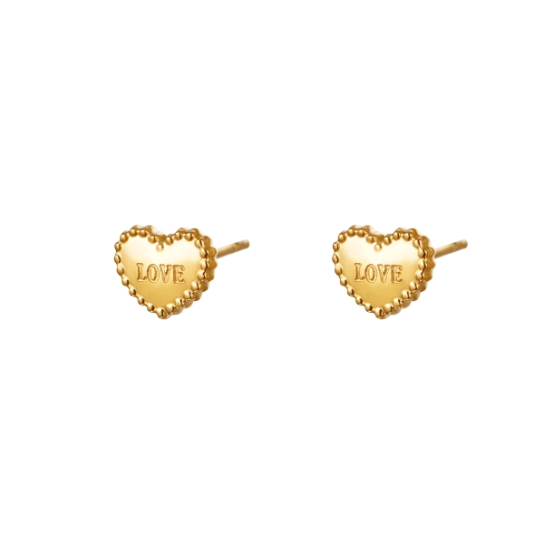Earrings loving hearts small
