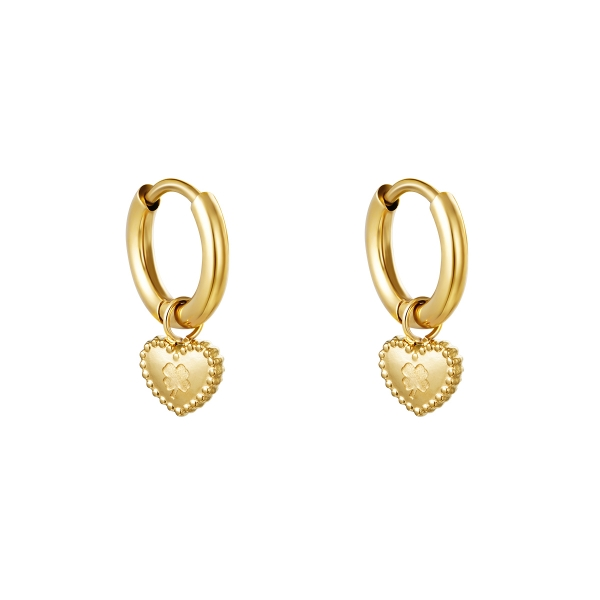 Earrings clover heart