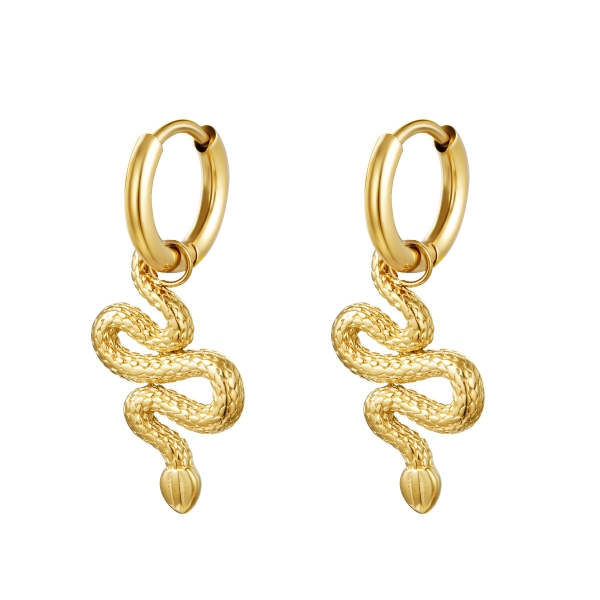 Earrings shiny serpent