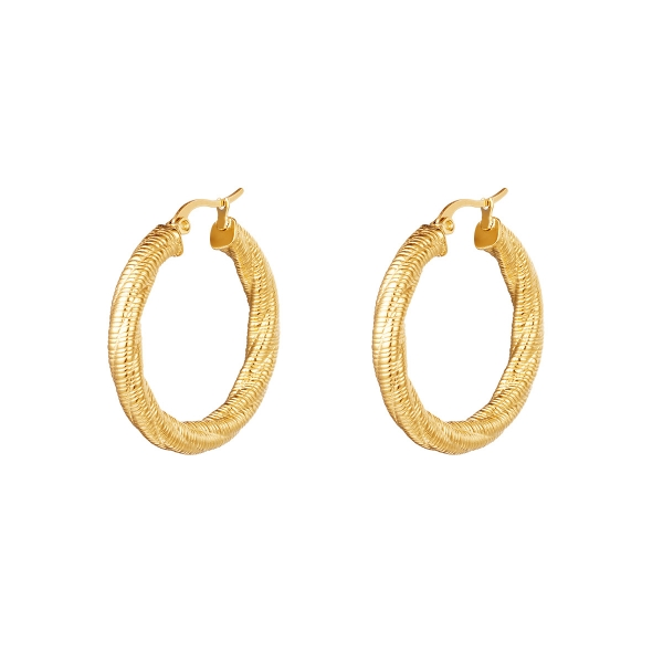 Hoops twisted small