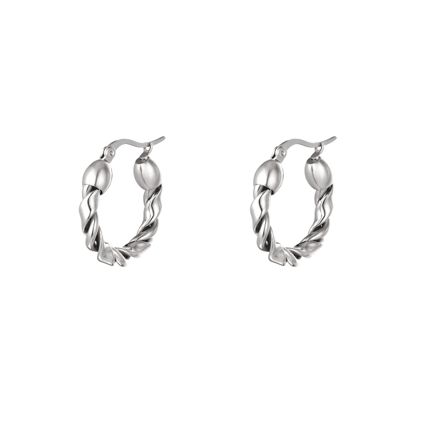 Stainless steel hoops small