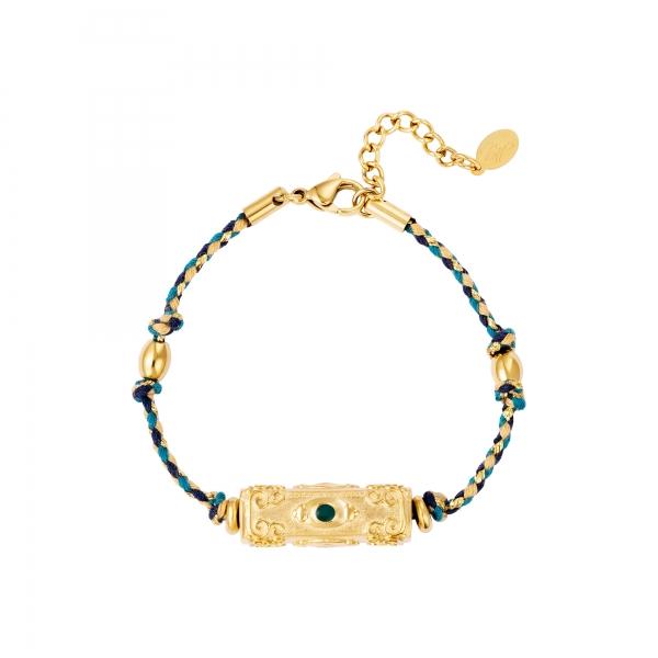 Armband kogelkraal blauw