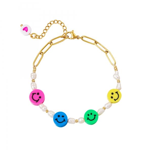 Stainless steel bracelet smilies