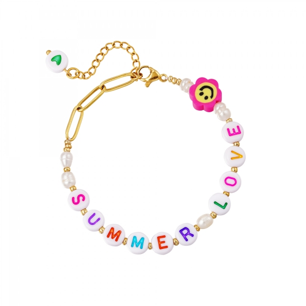 Pulsera de acero inoxidable summer love