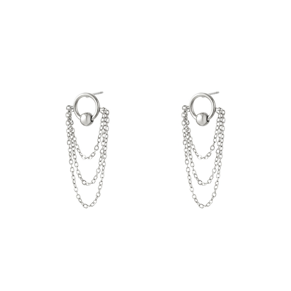 Stainless steel earrings chains
