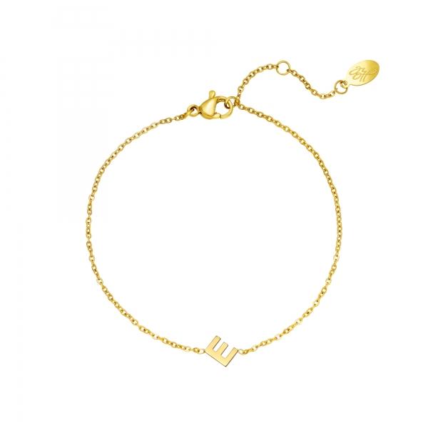Bracelet en acier inoxydable initiale E
