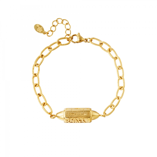 Armband Anhänger Happy Vibes Gold