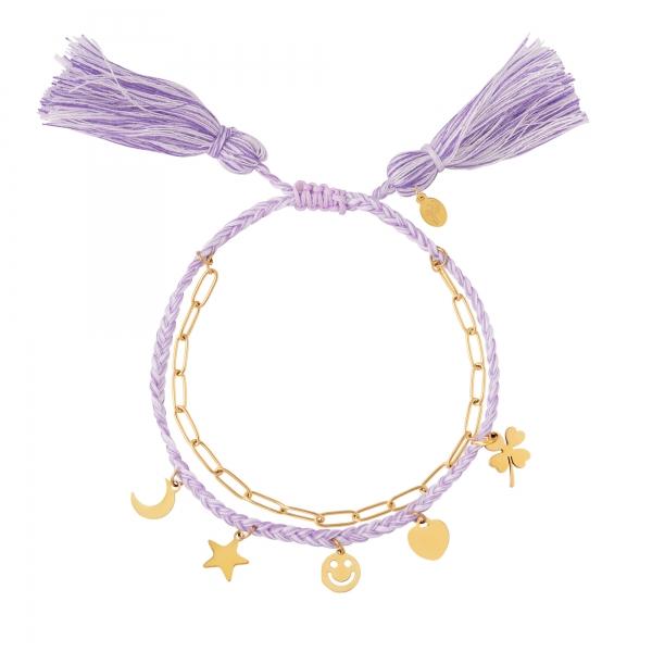 Bracelet double avec breloques