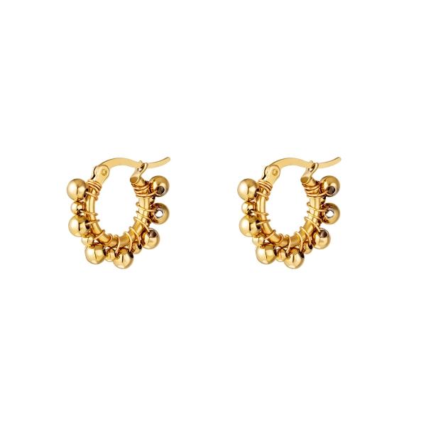 Hoop Earrings with balls