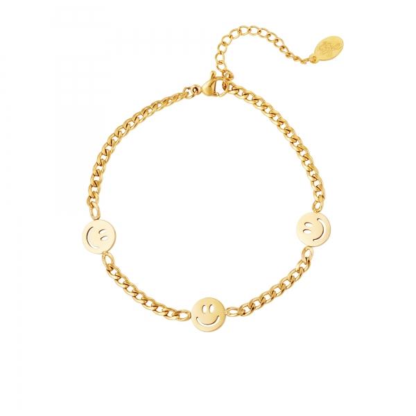 Bracelet chaîne smileys
