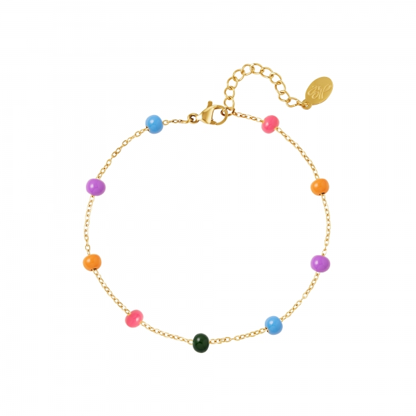 Stainless steel bracelet colorful