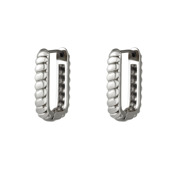 Rectangle earrings with baquette