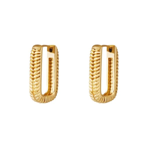 Woven rectangle earrings