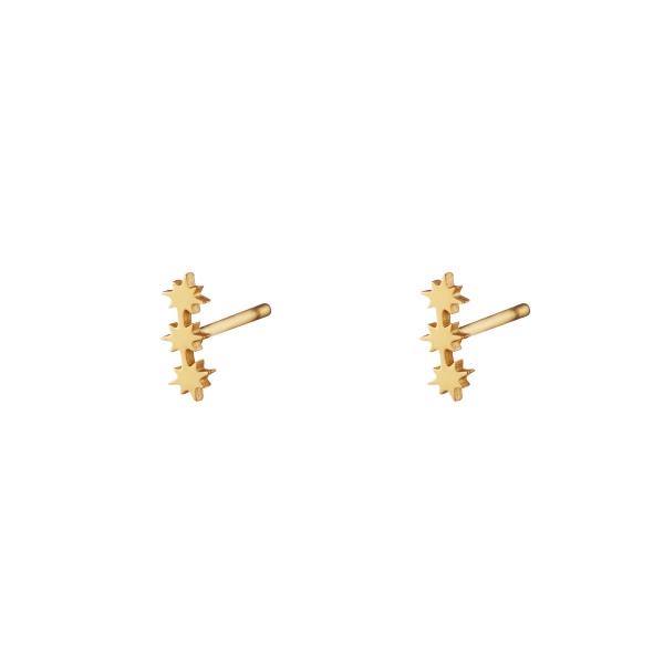 Boucles d'oreilles en acier inoxydable trois étoiles