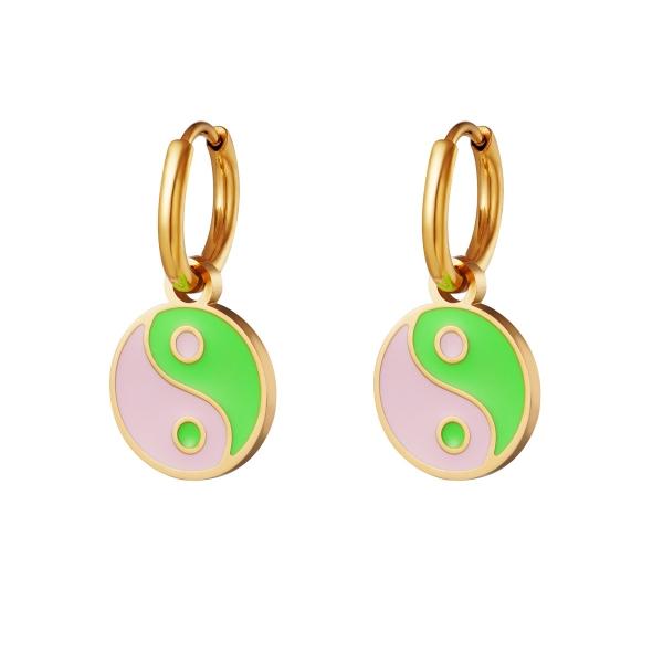 Stainless steel earrings Yin Yang