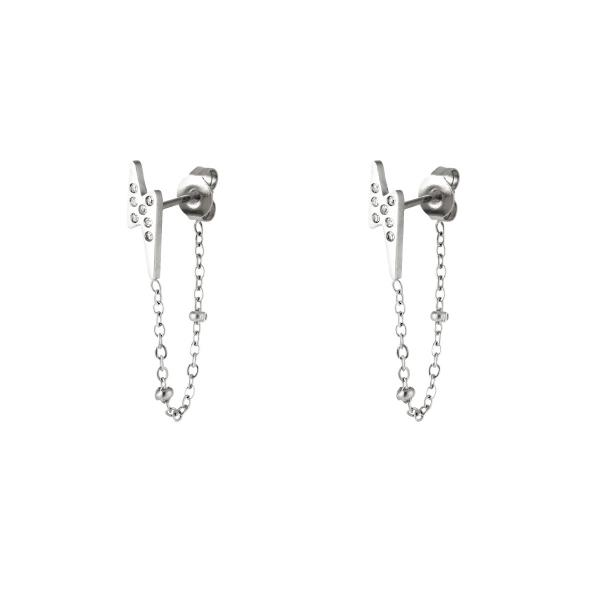 Lightning Bolt earrings with zirkons