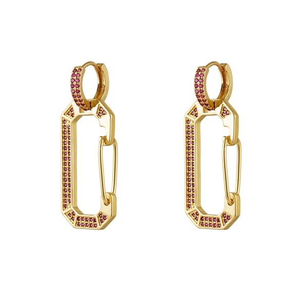 Gold plated earrings zircon
