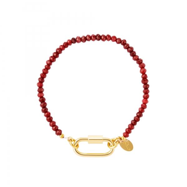 Bracelet with carabiner lock