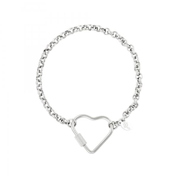 Stainless steel bracelet heart