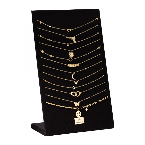 Set of 12 stainless steel necklaces