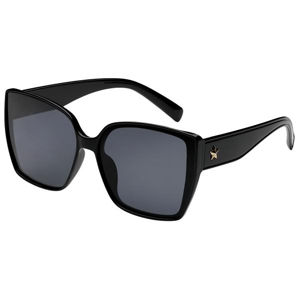 Vierkante zonnebril ster