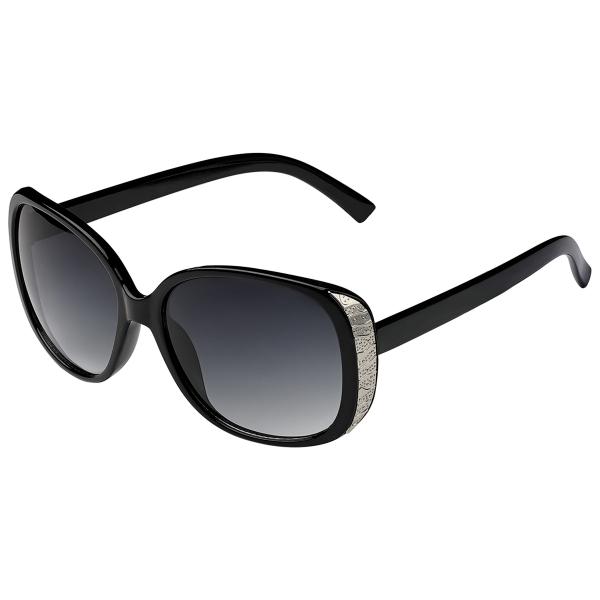 Sunglasses New Edge Black And Silver
