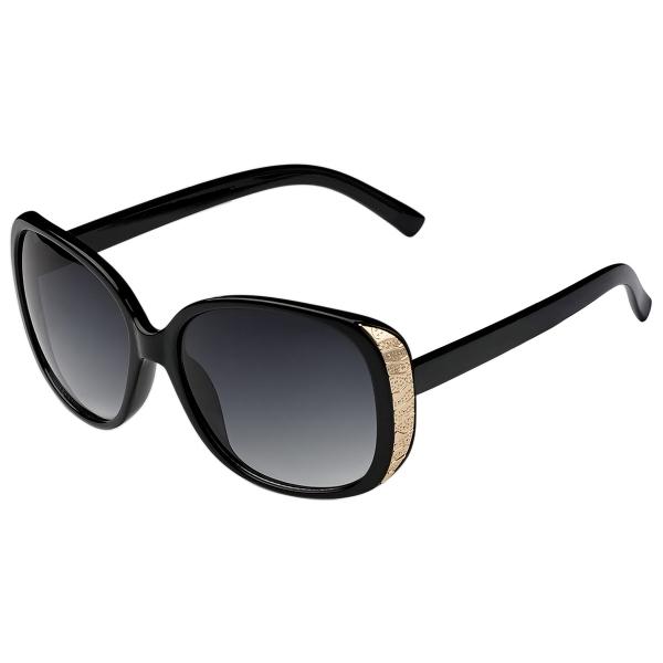 Sonnenbrille New Edge Schwarz und Gold