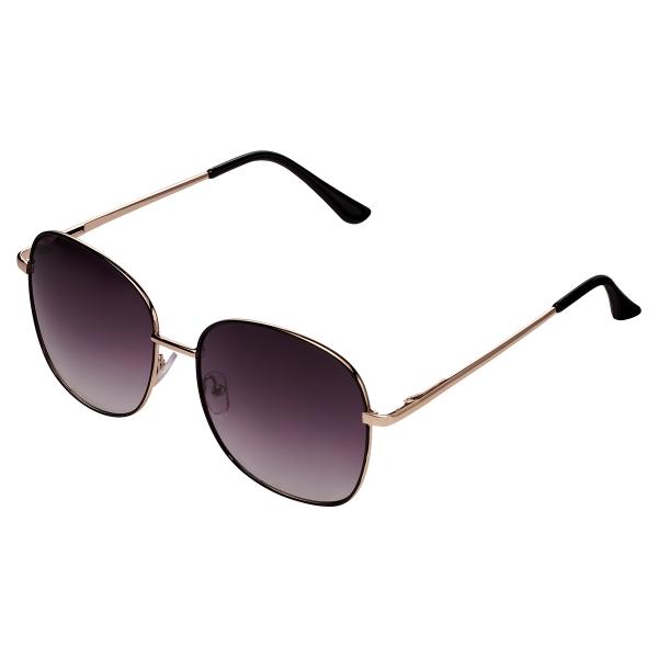 Einfache goldene sonnenbrille