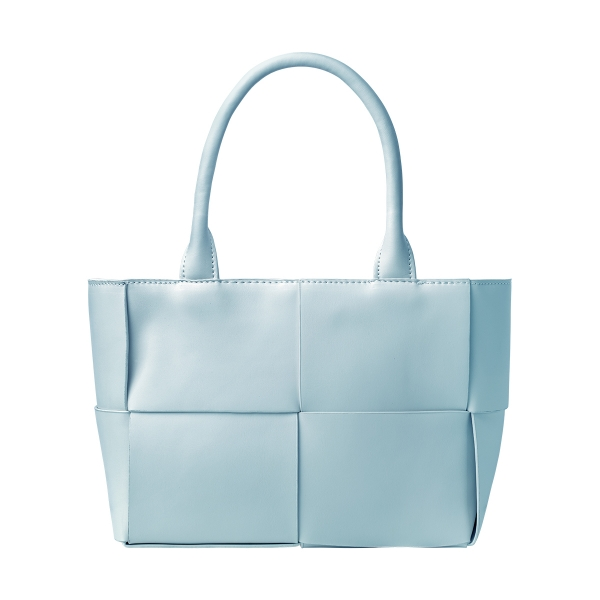 Woven look PU tote