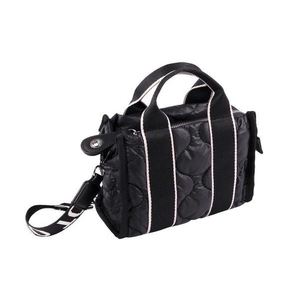 Sporty padded mini shoulder bag