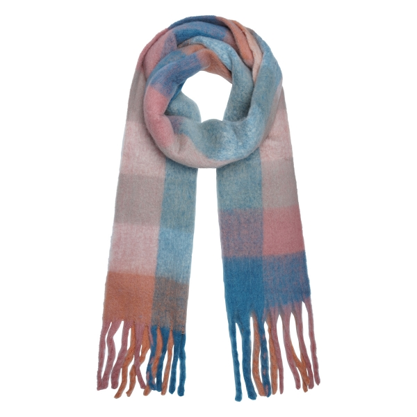Scarf soft checkered
