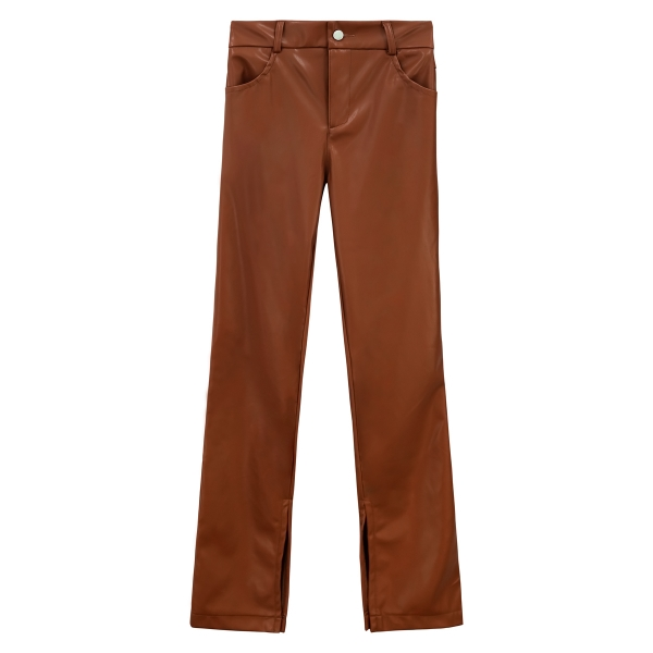 Trouser leather look