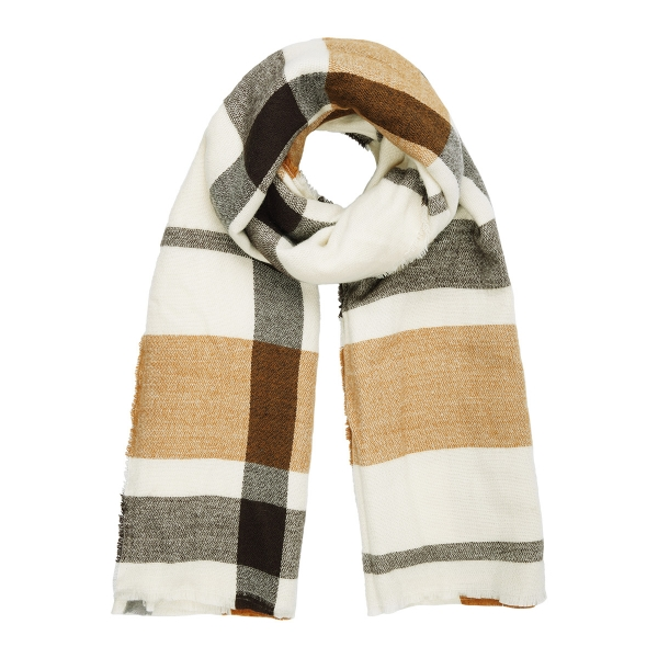Neutral toned winter scarf