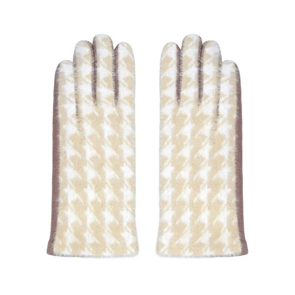 Pied-de-poule gloves