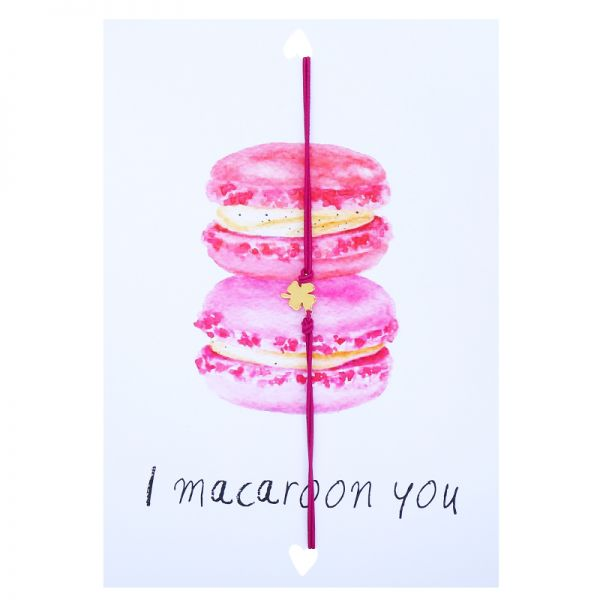 Postcard i macaroon you