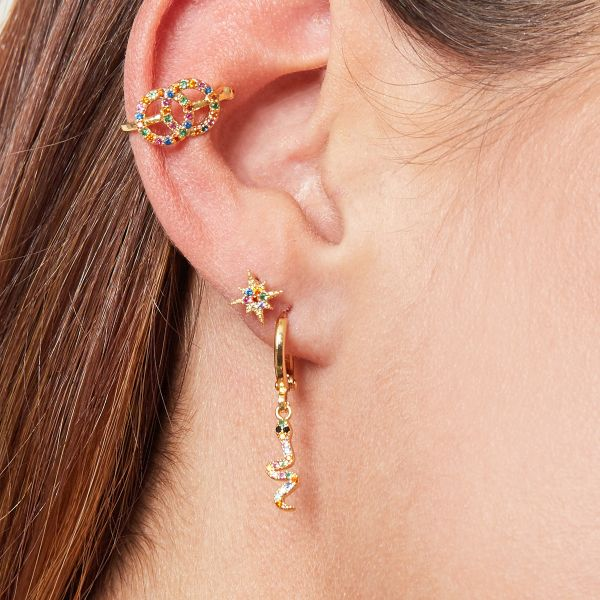 Earrings glamorous snake