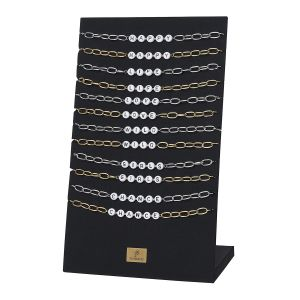 Necklace display set happy quote
